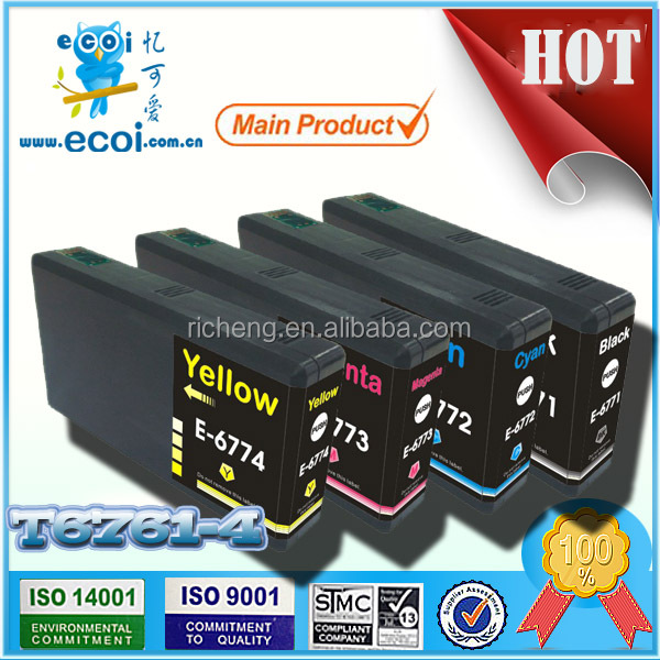recycle inkjet cartridge for t6761/t6762/T6763/T6764,refilled inkjet cartridge
