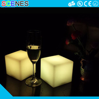 Outdoor garden decoration furniture waterproof illuminated led 10x10x10cm cube