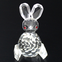 Animal theme crystal showpieces crystal rabbit in sale