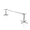 aluminium corner office desk height adjustable desk frame steel metal legs for office furniture