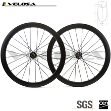 Velosa road bike 50mm asymmetry rims, Toray T700 Carbon Fiber 700C offset disc brake wheels