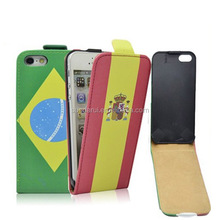 For iPhone 4 4S Ultra Slim Leather Case 2014 FIFA World Cup Brazil National Flag Flip Cover Leather