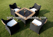 Hot wood/ rattan garden dining set SV-27002