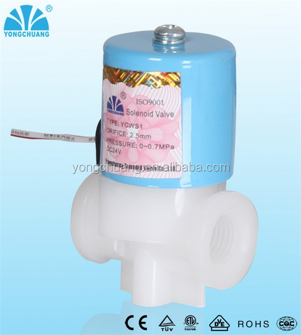 Yongchuang brand YCWS1/3 series ro system low price small plastic water ro solenoid valves