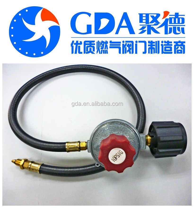 CSA LPG hose and pressure regulator