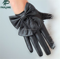 Leather hand gloves new desgin short cute fashion girls winter hand gloves