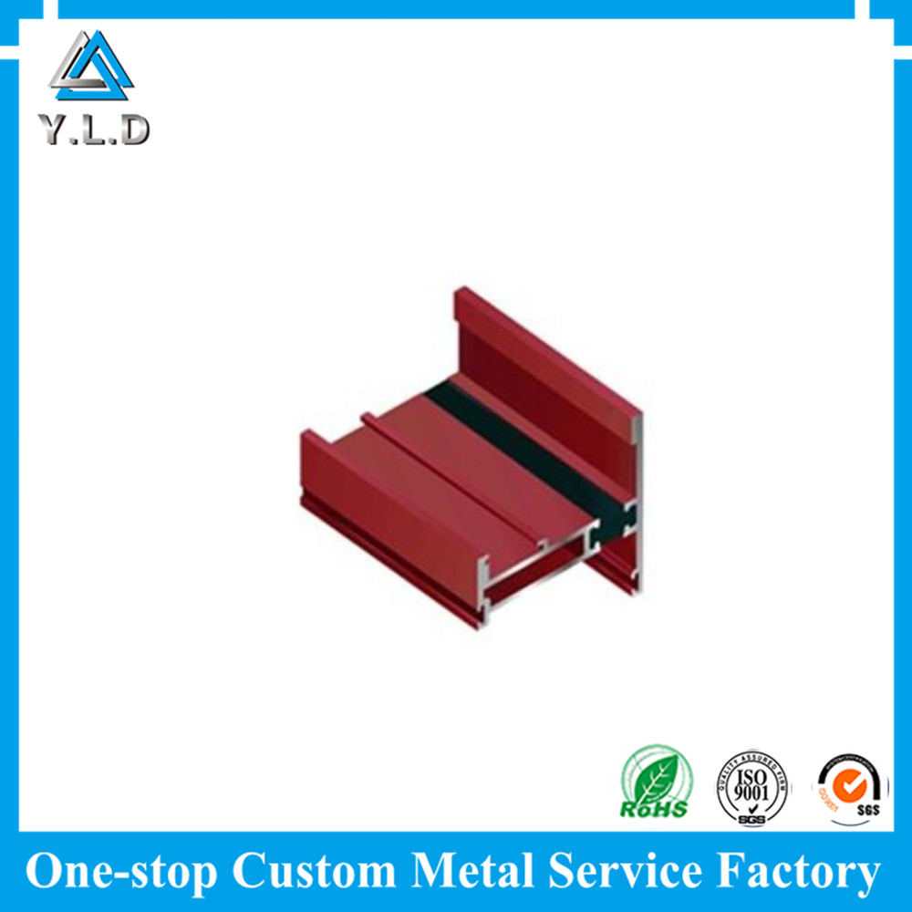 TOP Aluminum Working Factory Customized Red Powder Coating Aluminum Extrusions