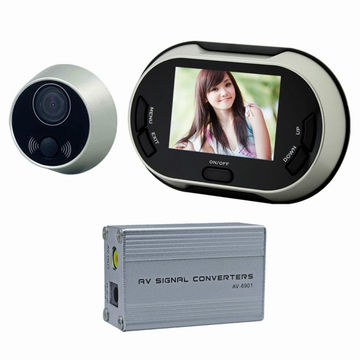 3.5 inch color display peep hole camera