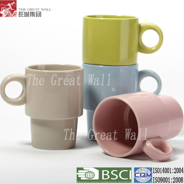 Ceramic stackable coffee mug