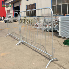 6ft high Hot dip galvanized removable steel barriers for roads