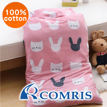 Cartoon Animal Pattern Dual-purpose Zipper Pure Cotton Kids Sleeping Bag