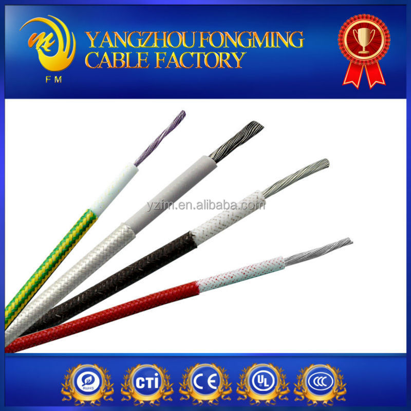 Multi Core Tin Copper Braided Silicone Rubber Coated stainless steel shield wire