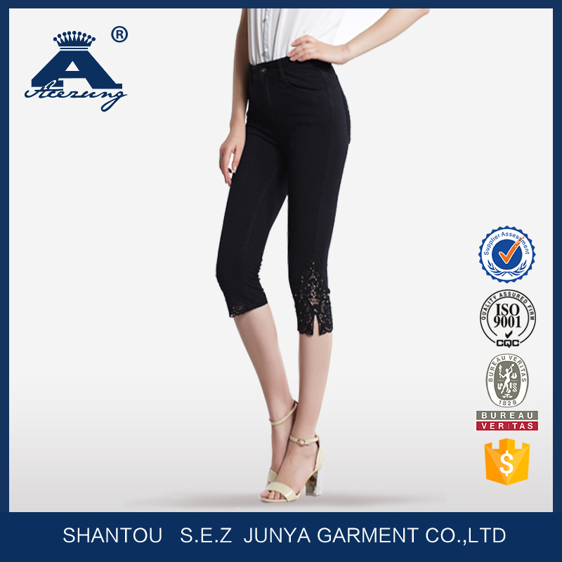 Alibaba China Top Design Cropped Trouser Women For 2016