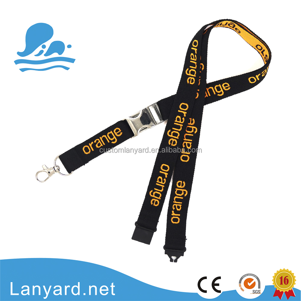 Promotion Product Customize logo Woven Lanyard