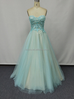 Girl Lace Applique Sweetheart Puffy Ball Gown Quinceanera Party Prom Dress JS90008