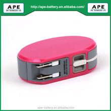 Portable Universal Battery Charger AC Power Bank 2600mAh
