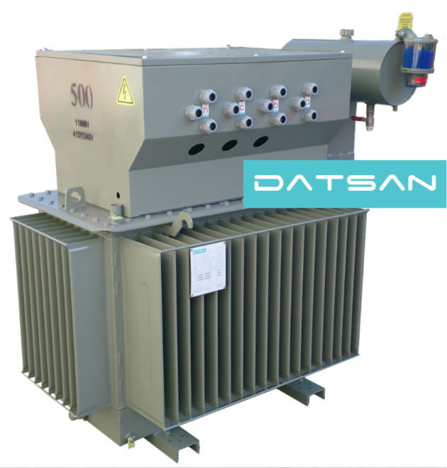 Distribution Transformer with Cable Box