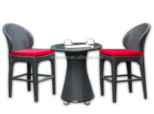 Royal All Weather 3 Pics Bar Stools Wicker/Rattan Outdoor Bar Set Furniture