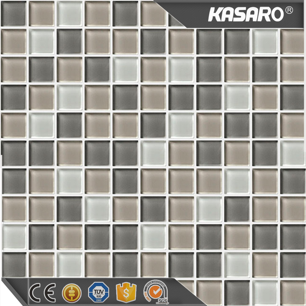 Glazy Glass Material Square Square Crystal Mosaic Tiles