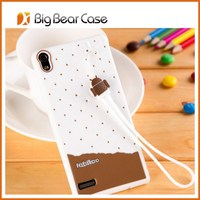 silicon cute case for huawei ascend p6 case