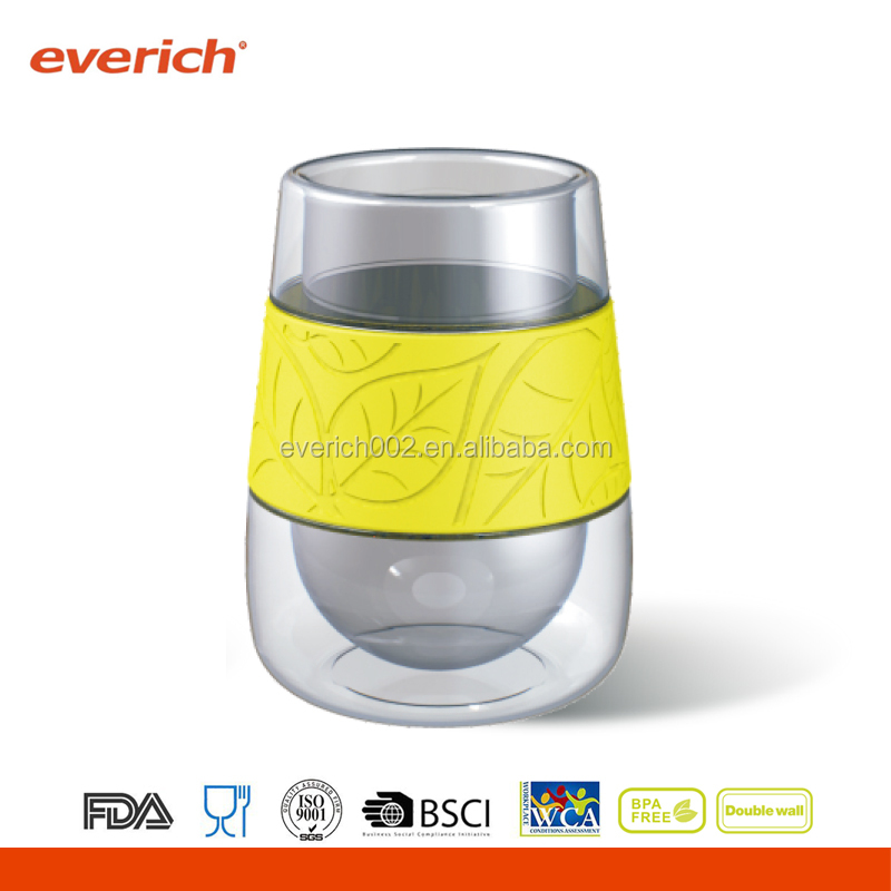 everich double wall borosilicate glass with silicone sleeve