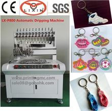 Manufacture Liquid PVC Key Chain Micro Injection Machine Key Cover Molding Machine