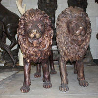 Large copper lion sculpture,large outdoor copper sculptures