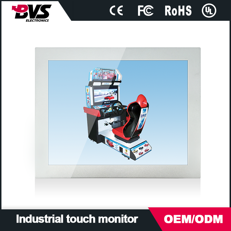 "15inch High Brightness LCD Monitor/ PCAP, IR Touch monitor/ 1000cd/ 1024x768 RGB, DVI, DP/ 15"" XGA 4:3 Industrial Monitor"