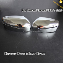 Chrome Door Mirror Cover For Navara np300 2014 New Chrome Mirror Cover Frontier Navara NP300 NEW Car Accessories Trade Assurance