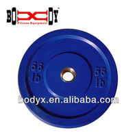 BP111-55lb-color bumper weight plate