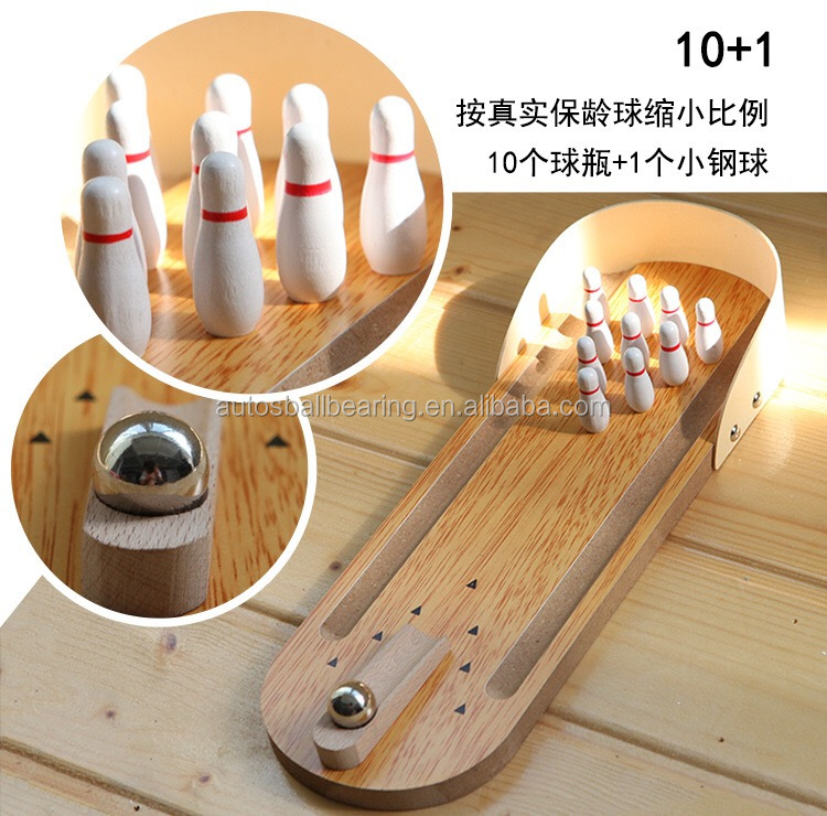 Mini Desktop Bowling Game Set Wooden Bowling Table game Children's educational <strong>toys</strong> Wood Parent-child <strong>toys</strong>