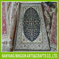 260lines ivory silk on silk handknotted turkish carpet