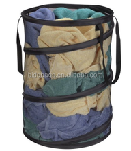 Pop-Up Collapsible Mesh Laundry Hamper, Black