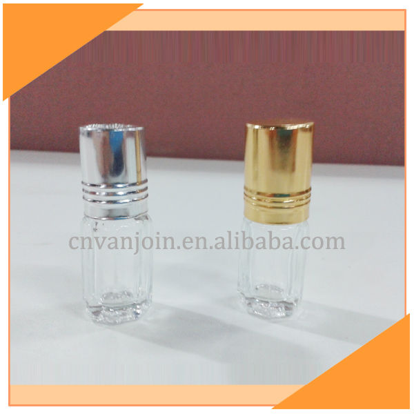 3ml Octagon Roll On Glass Bottle For Perfume Cheap Price