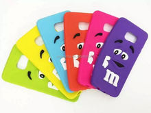 Cute chocolate beans silicone case for Samsung Galaxy S6 edge Plus