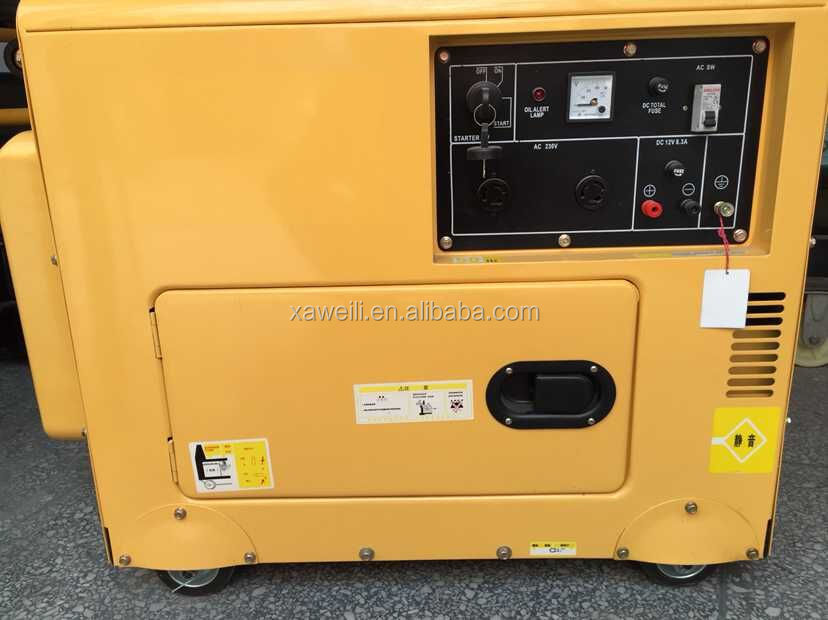 5.5KVA small portable 4 stroke three phase silent diesel generator price