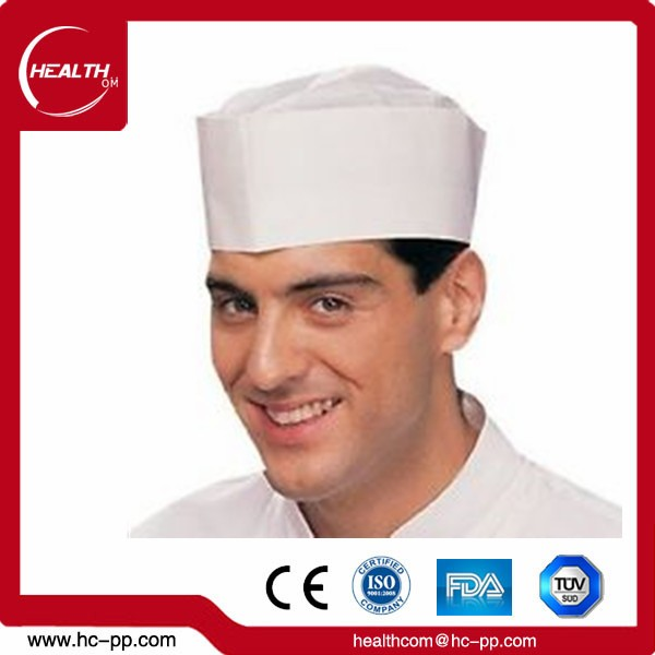 Food Processing Disposable White Paper Forage Cap On Sale