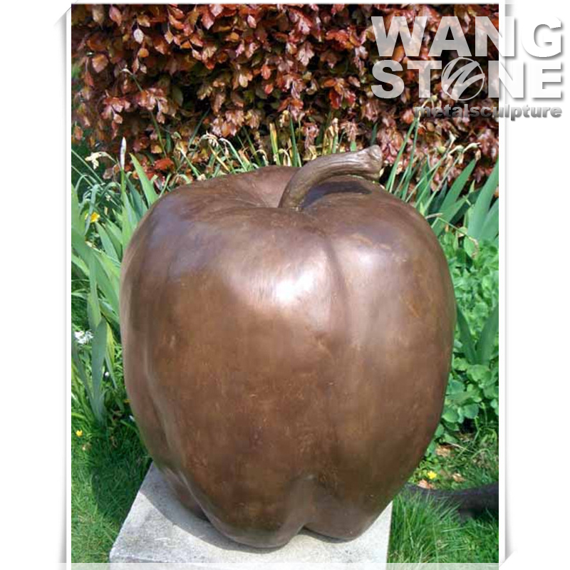 Large Metal Garden Bronze Decor Apple Sculpture