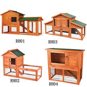 Factory high quality wooden rabbit hutch