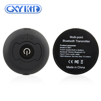 GXYKIT Mini size Lighter weight Black circular BT V4.0 Audio Receiver for Sound System