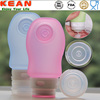 Promotion gift tsa approved portable silicone travel cosmetic bottle set