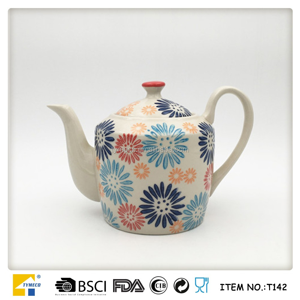 European hand-painted ceramic tea sets with teapot