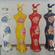 wholesale decorative liquor glass bottle