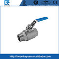 "Stainless Steel Cast Ball Valve with 1"" BSP Male to Female Thread Full Port"