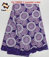 latest fashion style cotton lace heavy african lace fabric swiss voile lace with stones