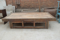 Natural wood antique hand carved solid wood bed