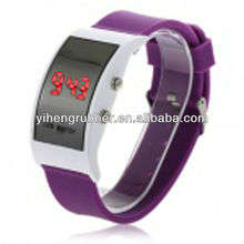 2012 TOP Hot Cool silicone led watch,digital silicone watch