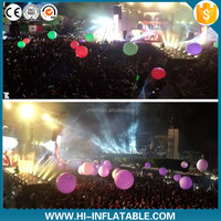 Inflatable color changing zygote balls for party /interactive crowed zygote balloon/led balloon lights for stage decoration
