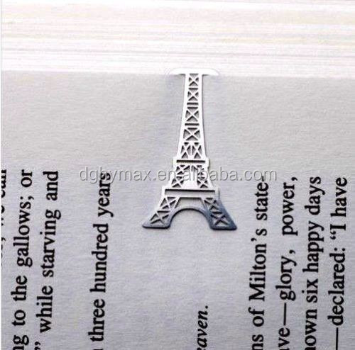 Personalized France Paris Eiffel Tower Little Brass Metal Bookmark