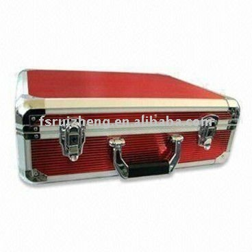 Red ABS aluminum tool case RZ-GJX-02